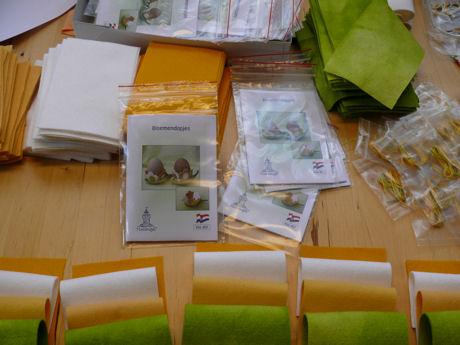 Bloemendopjes inpakken weblog