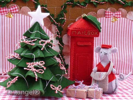 Kerst op het plein met postbode w