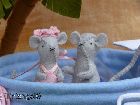 Morris en Miny in het zwembad web