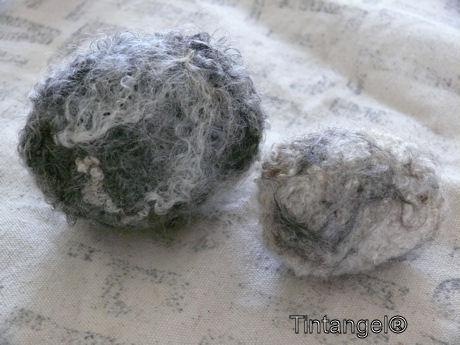 Twee eieren met wol