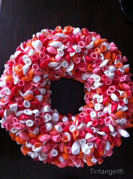 Balonnenkrans roze
