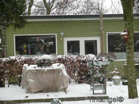Atelier in de sneeuw