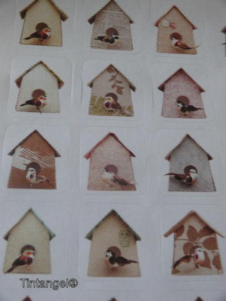 Vogelhuisjesstickers