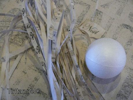 Reepjes papier en bal