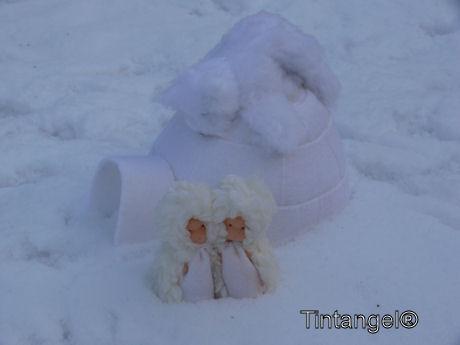 Poolpret in de sneeuw (2)