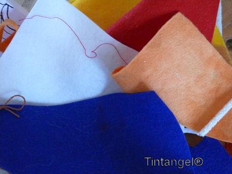 Drie kleur en oranje