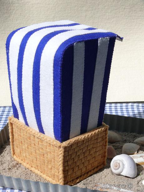 Strandstoel achter