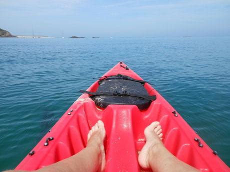 In de kayak Herm