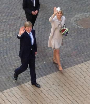 Koning en Koningin in Groningen mei 2013