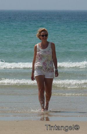 Hannie op het strand