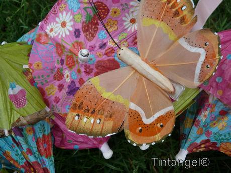 Met kleine vlinders