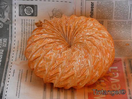 Oranje gespoten