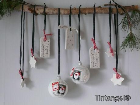 Zwart Wit Kerstdecoraties : Blij dat ik klei! een tutorial voor een stoere kerstdecoratie. en