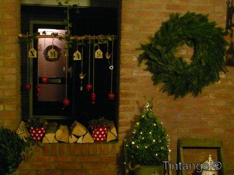 Kerst bij de voordeur