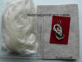 Materiaal pakket ecru melee blog