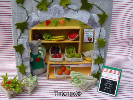 Groente winkel in gevel blog