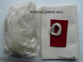 Materiaal pakket ecru blog