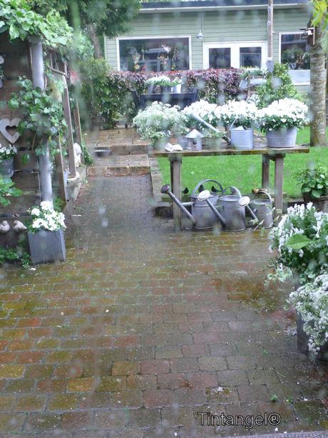 Regen en gieters