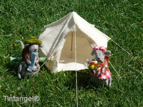 Morris en Miny gaan kamperen