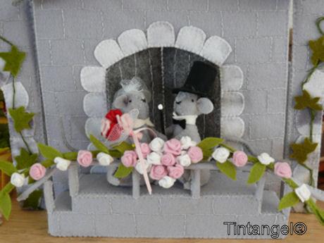 Bruidspaar op bordes