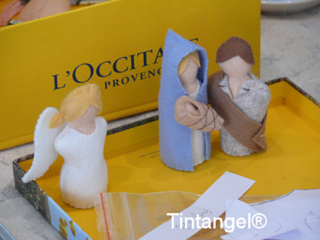 Jozef, Jezus, Maria en engel