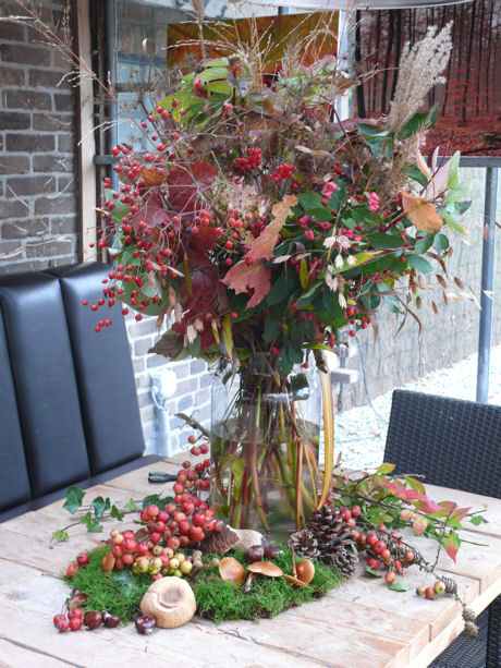 Herfstboeket tafel