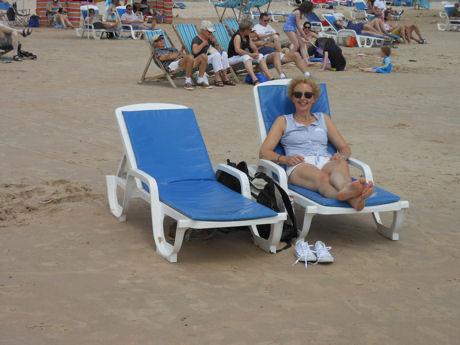 Op het strand blog