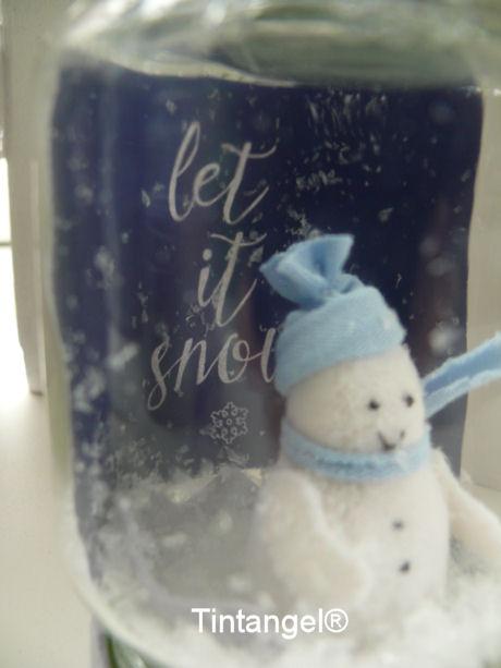 Sneeuwbol met kaartje blog