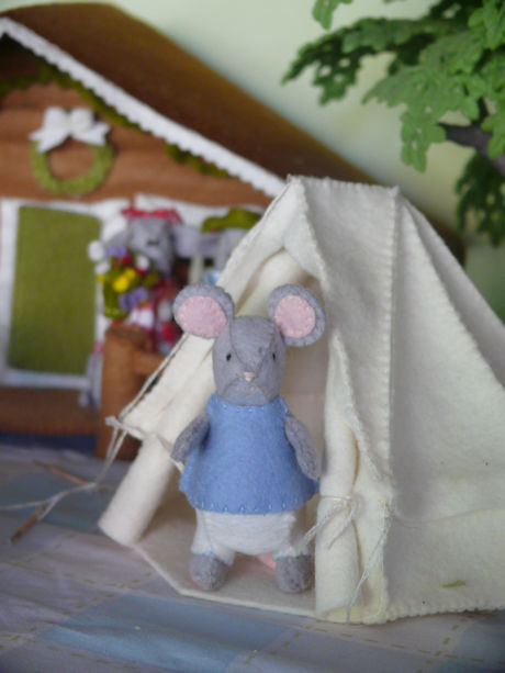 Muis in tent