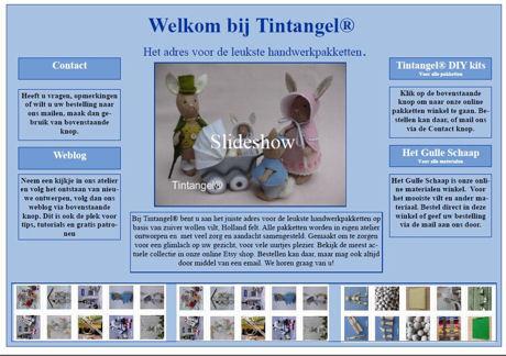 Opzet nieuwe website