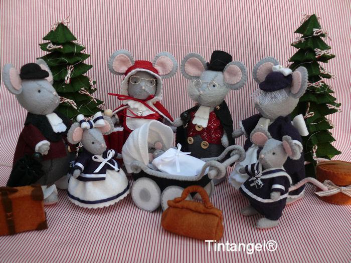 Kerstfamilie etsy