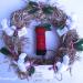 Kerstpostkrans 8 v e vierkant