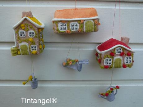 Huisjes hangen op witblog