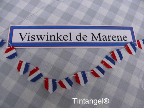 Bordje en vlaggetjes blog