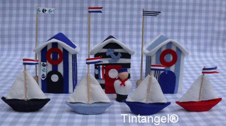 Strandhuisjes Holland met vloot blog