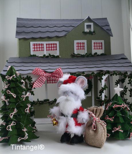 Kerstmanmuis voor huis portret blog
