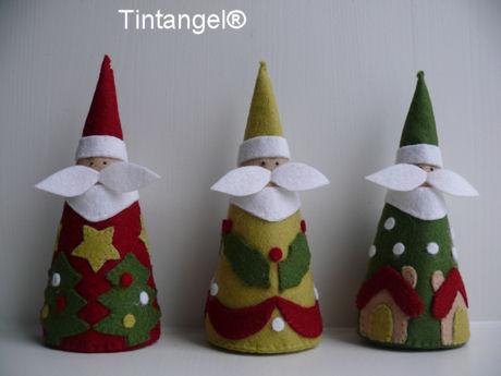 Drie Kerstmannen staand blog