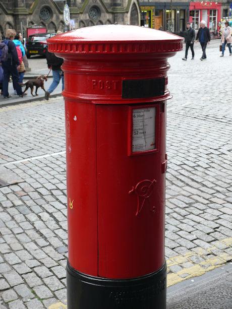 Brievenbus Edinburgh blog