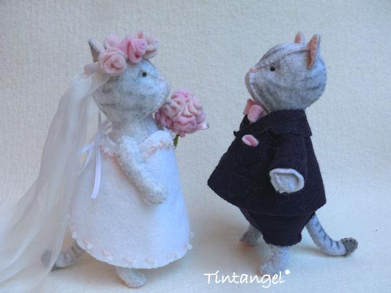 Katten bruidspaar etsy