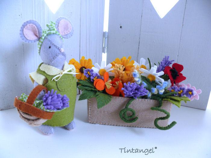 Pakket muis met bloemen etsy