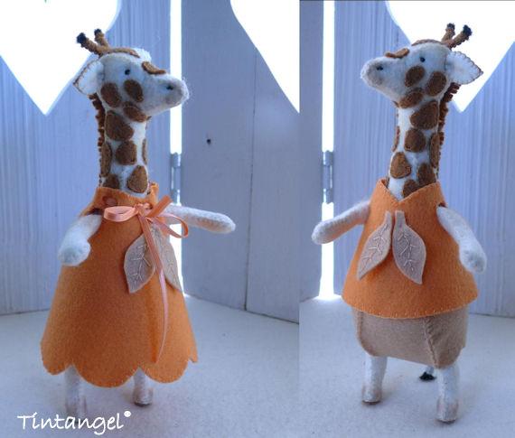 Pyjama giraf voor etsy