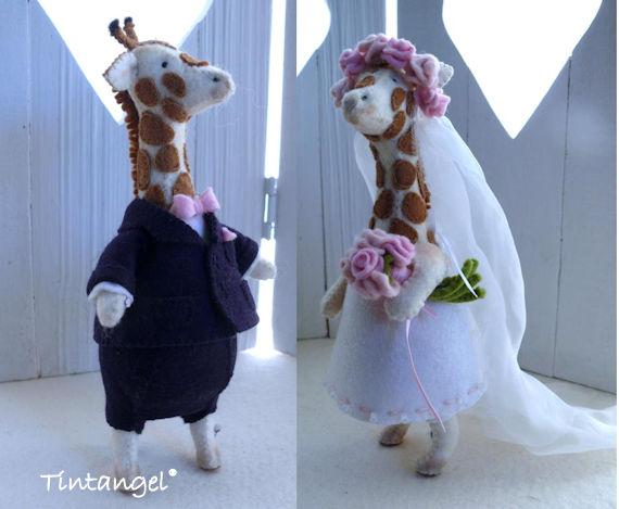 Bruidspaar giraffen 1 etsy
