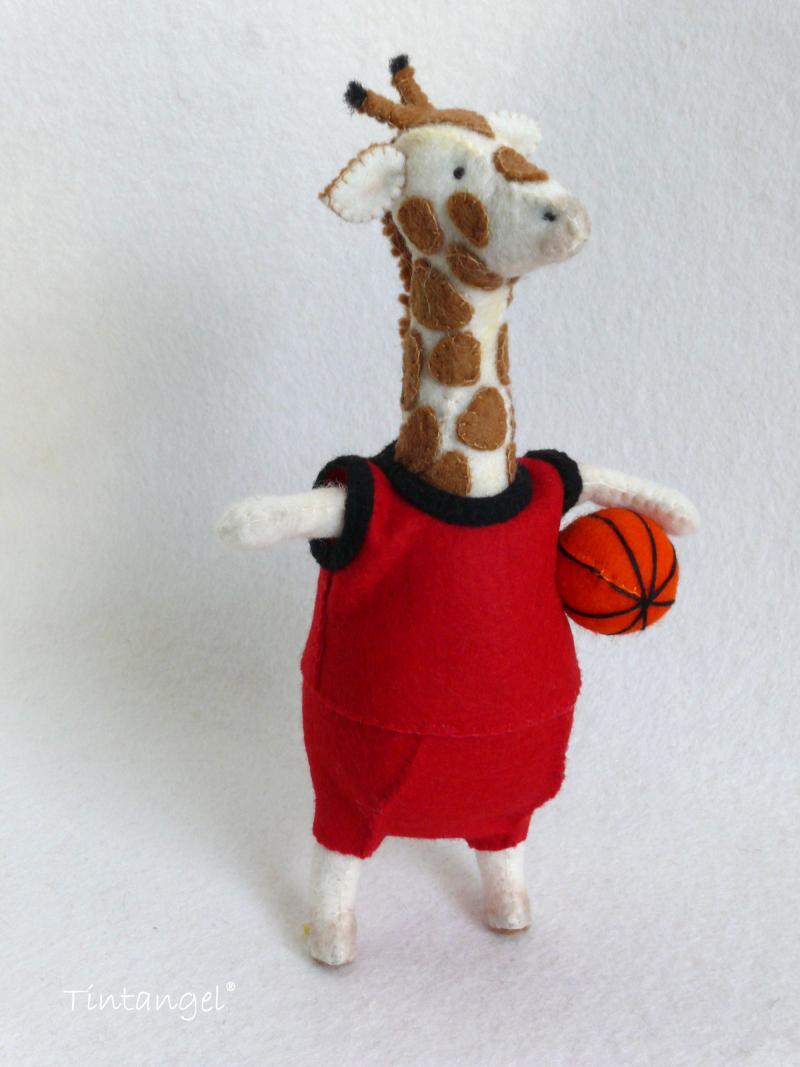 Etsy Basket bal giraffe