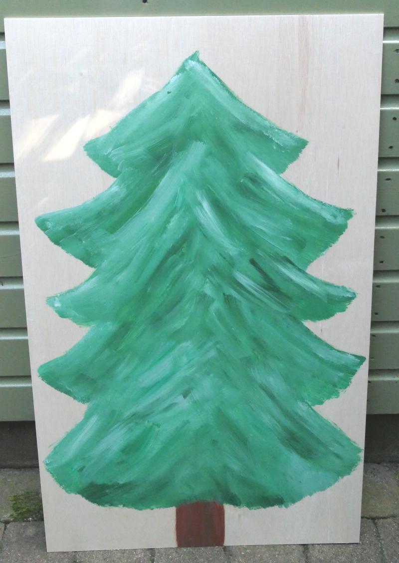 Kerstboom op board blanco