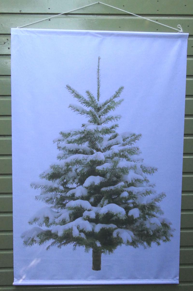 Kerstboom op doek blanco
