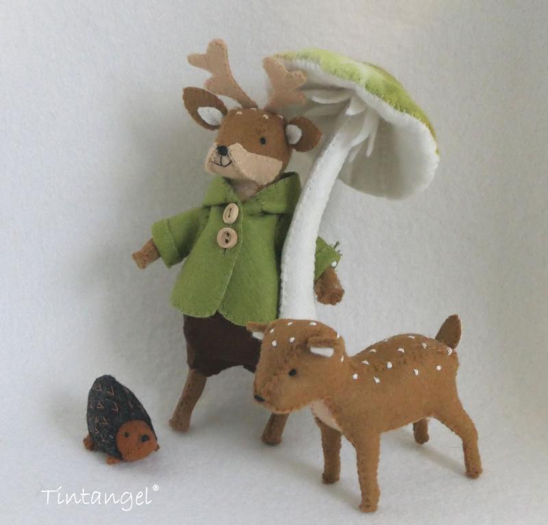 Etsy Hert met boskostuum groen