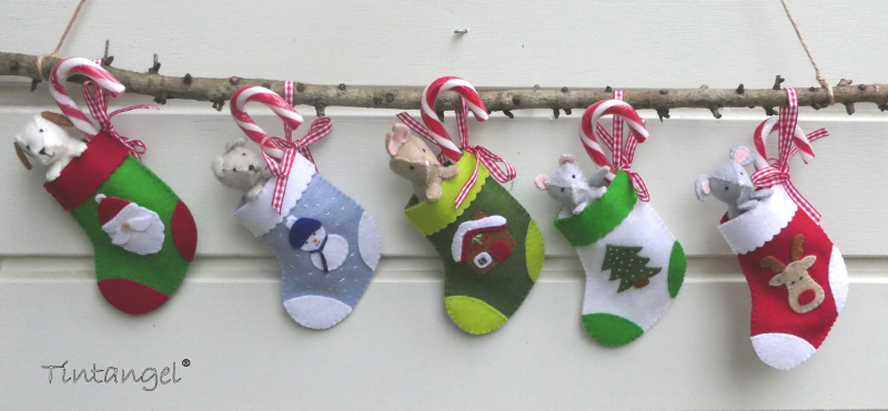 Etsy Kerstsokken met beestjes