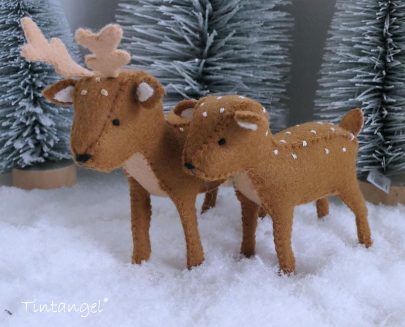Etsy Hertjes in de sneeuw 2