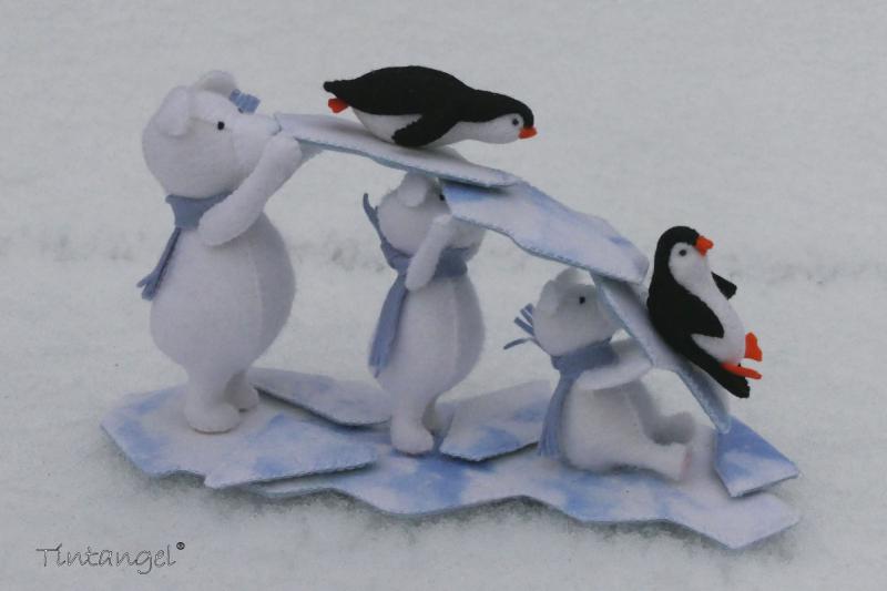 Etsy IJsbeer roetsj in de sneeuw 1